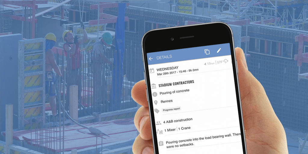 Site Diary construction software mobile version