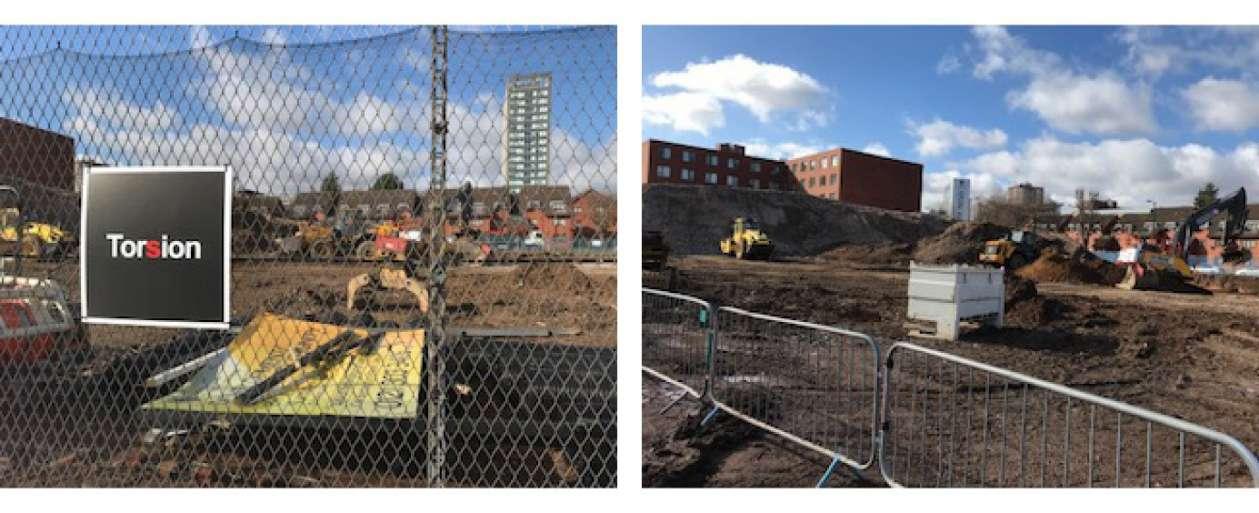 Torsion group picture of a construction site