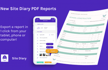 new site diary reports