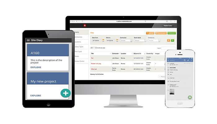 Site diary -mobile applications in construction