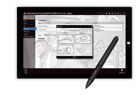Tablet with Intelligent Stylus use