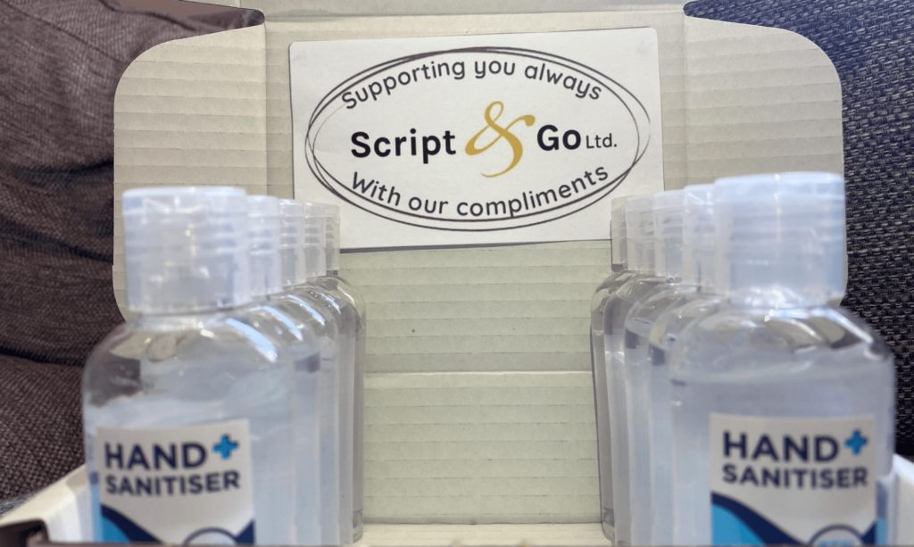 Script&Go helping with construction hand sanitisers-min